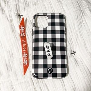 iPhone 11 Pro Buffalo Check Loopy Case w/ 2 loops